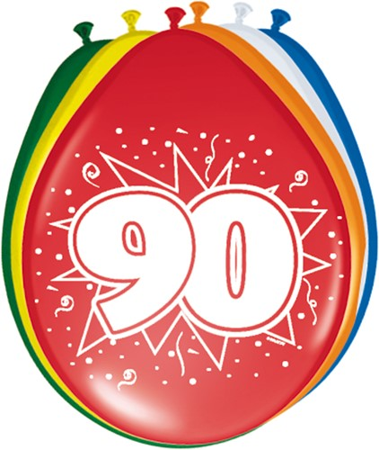 Ballonnen 90 jaar 8st