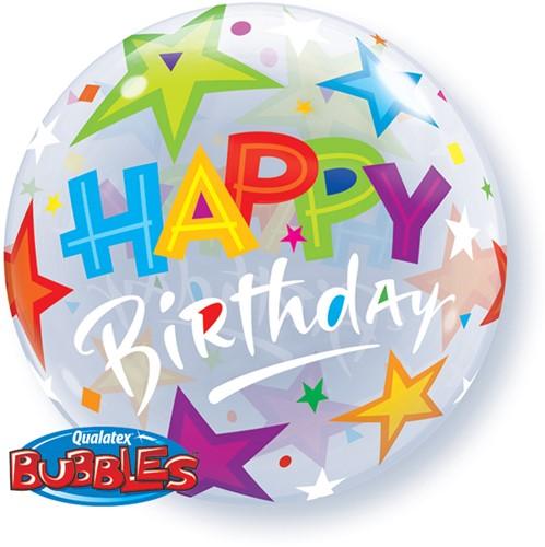 Bubble Ballon Happy Birthday Stars