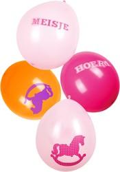 Ballonnen Een Meisje 6st.