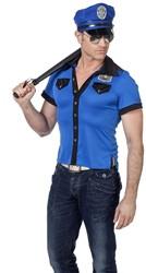 Politieshirt Blauw voor heren