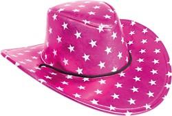 Cowboyhoed Disco Stars Metallic Pink