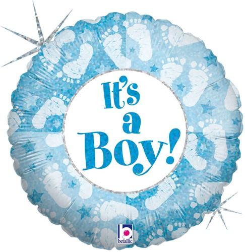 Folieballon It's a Boy Footprints 46cm
