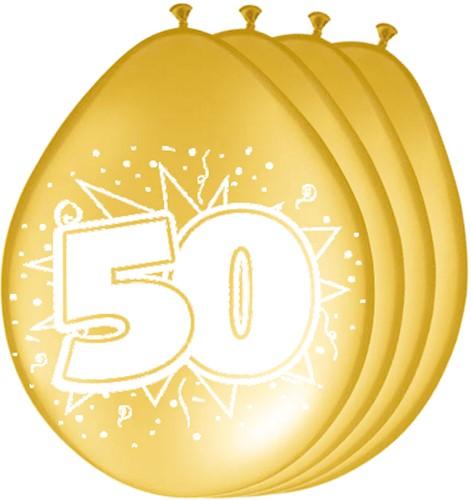Ballonnen 50 Goud 8st