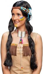 Dames Indianenpruik met Luxe Hoofdband