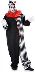 Clownspak Zwart-Wit voor heren (3 dlg)