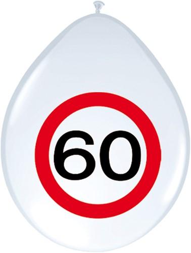 Ballonnen 60 jaar Verkeersbord 8st