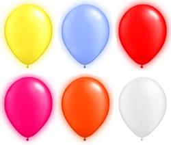 LED Ballonnen Assorti (5 stuks)