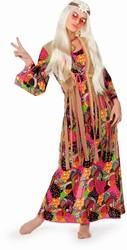 Dameskostuum Hippie Long Flower Lady