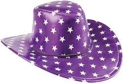 Cowboyhoed Disco Stars Metallic Paars