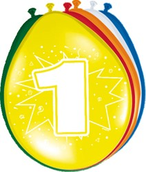 Ballonnen 1 jaar 8st