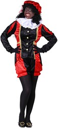 Dames Pietenpak Castillie Zwart/Rood