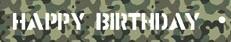 Markeerlint Happy Birthday Camouflage