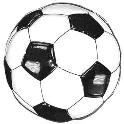 Wanddeco Voetbal 53cm