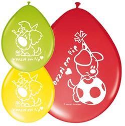 Ballonnen Woezel en Pip 8st.