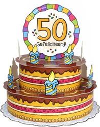 3D Taart 50 Gefeliciteerd!