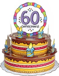 3D Taart 60 Gefeliciteerd!