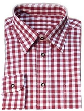Tiroler Overhemd Wijnrood Luxe (katoen/polyester)