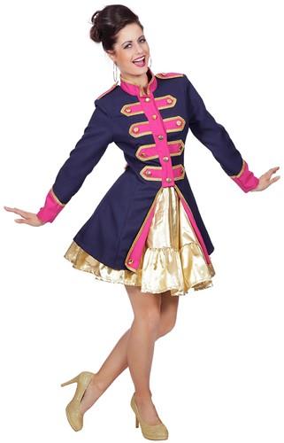 Dames Carnavalsjas Uniform Donkerblauw/Fuchsia