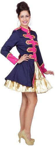 Dames Carnavalsjas Uniform Donkerblauw/Fuchsia-2