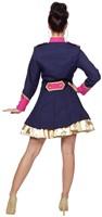 Dames Carnavalsjas Uniform Donkerblauw/Fuchsia-3