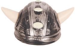 Viking Helm Zilver met Hoorntjes
