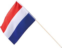 Polyesther Zwaaivlag Nederland op Stokje