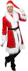 Heren Kerstmantel Velours