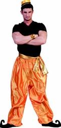 Broek Sultan (Oranje/Goud)