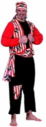 Heren Piratenkostuum Stripes