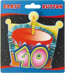 3D Button 40 Jaar