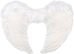 Engelen Vleugels Wit met Marabou (50x35cm)