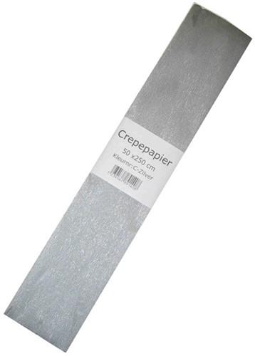 Crepe Papier Zilver