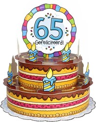 3D Taart 65 Gefeliciteerd!