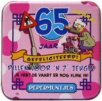 Pocket Tin 65 jaar Vrouw