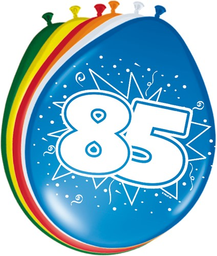 Ballonnen 85 jaar 8st