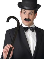 Charlie Chaplin Wandelstok Zwart 80cm