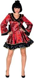 Sexy Geisha Jurk Luxe Rood