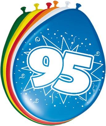 Ballonnen 95 jaar 8st