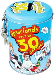 Spaarpot 30 jaar cartoon