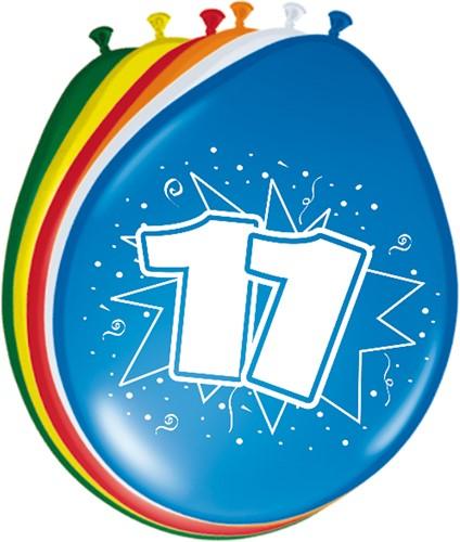 Ballonnen 11 jaar 8st