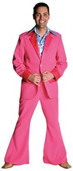 Seventies Kostuum Heer Pink