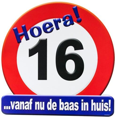 Huldeschild Hoera 16