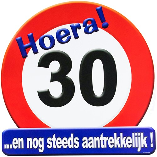Huldeschild Hoera 30