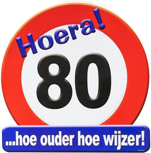 Huldeschild Hoera 80