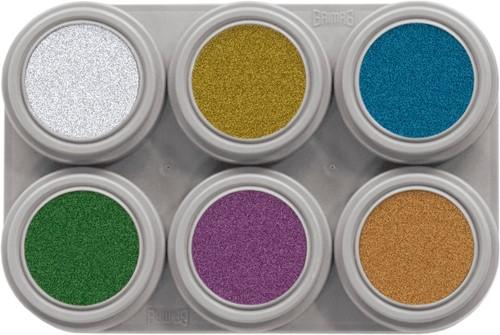 Grimas Water Make-up Palet 6 Metallic (2,5ml)